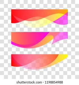 Wavy gradient design element. Vector decor for brochure, banner, flyer. Fluid, color wave, curve line