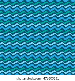 Wavy line abstract seamless pattern. Fashion graphic background design. Abstract texture. Colorful template for prints, textiles, wrapping, wallpaper, website etc. VECTOR illustration