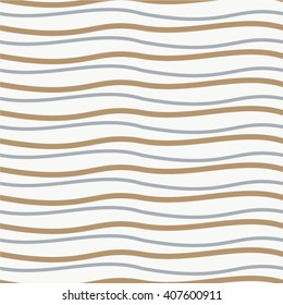 Wavy line pattern seamless vector background.