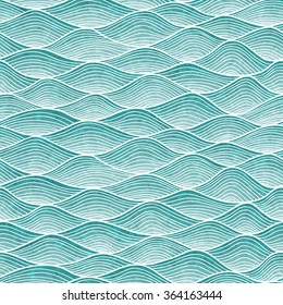 Wavy pattern. Hand-drawn abstract background with tangled lines. Waves background.