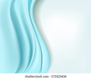 wavy soft light blue silky abstract background. vector