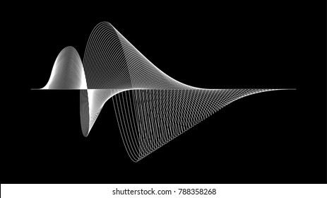 Wavy sound wave technology abstract vector background