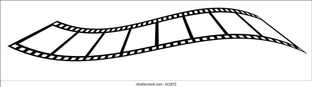 A wavy vector film strip