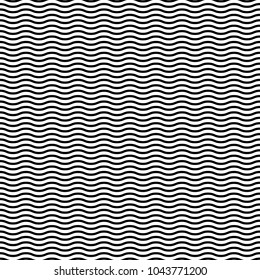 Wavy, waving horizontal lines seamlessly repeatable pattern