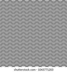 Wavy, waving horizontal lines seamlessly repeatable pattern