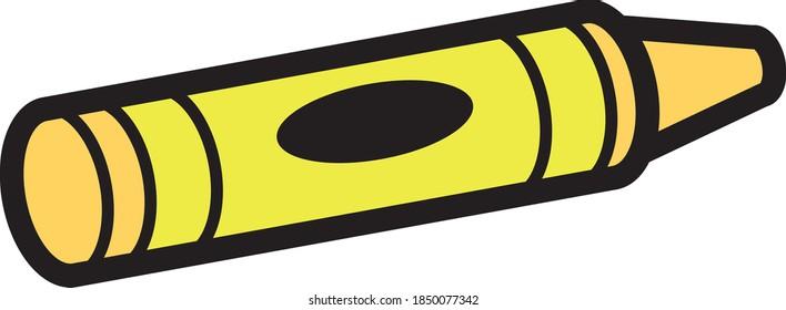 Illustration vectorielle de dessin humoristique en cire crayon. Peut facilement être rempli de n'importe quelle couleur pour faire un ensemble.