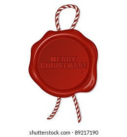 wax seal with christmas wishes