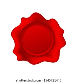 Wax seal isolated on white background. Vector stock illustration.
