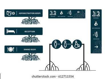 Way finding signs and concepts for mangrove.