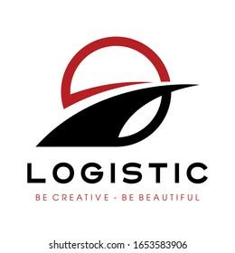 Way and Logistic Transportation Logo Vector Illustration