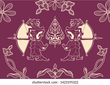 Wayang be one of the batik motifs, batik is a very beautiful work of art on cloth originated from Indonesia