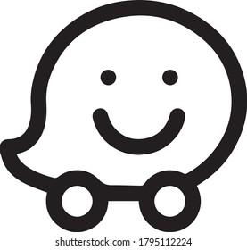 Waze Icon Location GPS Symbol