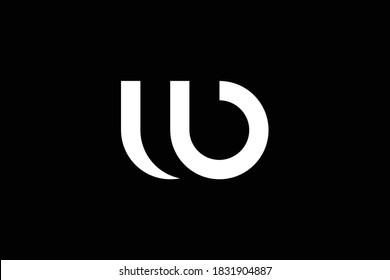 WB letter logo design on luxury background. BW monogram initials letter logo concept. WB icon design. BW elegant and Professional letter icon design on black background. W B BW WB