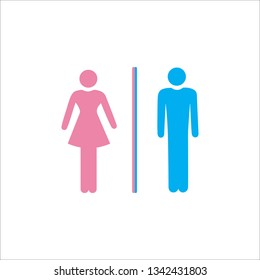 wc bathroom toilet sign line icon on white  background 2
