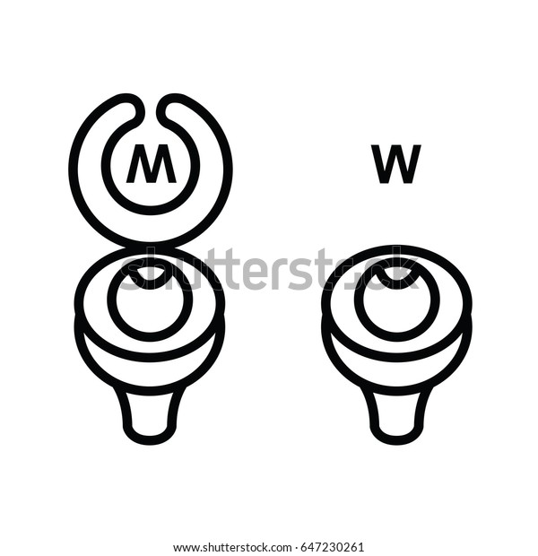 wc icon - toilet sign in funny style - toilet door vector symbol