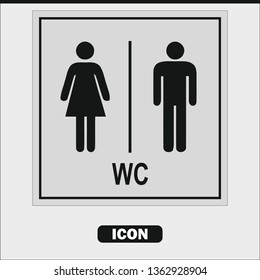 WC icon. Toilet women and men icon. vector illustration