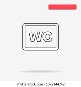 Wc icon. Vector concept illustration for design.