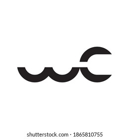 wc initial letter vector logo