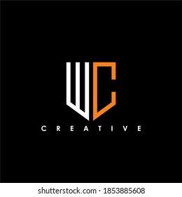 WC Letter Initial Logo Design Template Vector Illustration