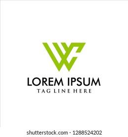 Wc monogram logo modern, wc concept