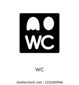 Wc sign icon. Wc sign symbol design from Traffic signs collection. Simple element vector illustration on white background.
