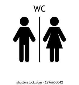 WC sign icon. Toilet symbol