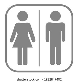 WC sign icon. Toilets Icon Unisex.Toilet symbol. Vector man and woman icons.