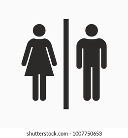 WC sign toilet women and men icon