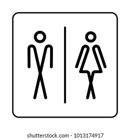 WC / Toilet door plate icon. Restroom. Bathroom plate. WC sign.