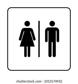 WC / Toilet door plate icon. Restroom. Bathroom plate.