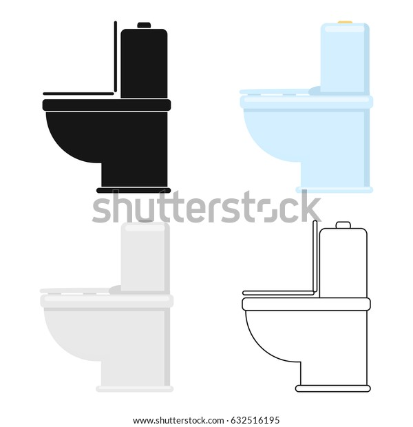 WC toilet icon of vector illustration for web and mobile