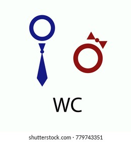 Wc or toilet isolated flat vector icon