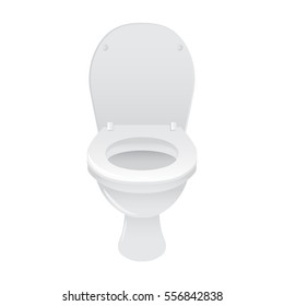 WC toilet, isolated on white background, stock vector