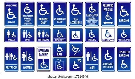 handicap parking sign template - disabled parking sign images stock photos vectors