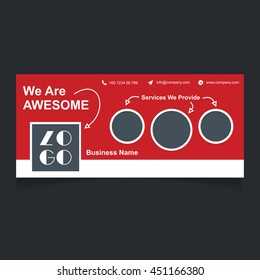 we are awesome creative website banner template. Header Layout Template. Creative cover. Web Banner.