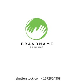 we care your family and massage hands for business and branding