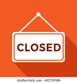We are Closed Sign with information closed retail store, vector illustration.