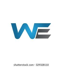 WE company linked letter logo blue
