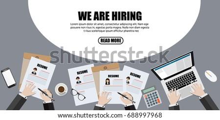 We Hiring Human Resource Hr Management Stock Vektorgrafik