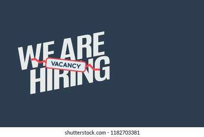 We Are Hiring Icon. Isolated Object. The concept of search and recruitment. Vector Illustration.