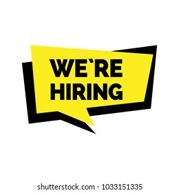 We are hiring lettering in dialog frame