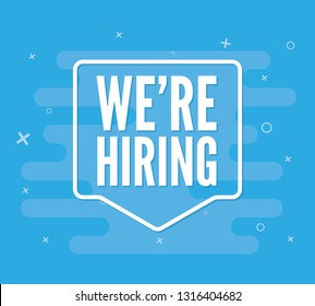 We are hiring message quote