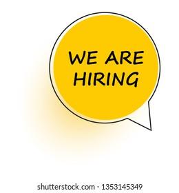 We are Hiring. Open recruitment creative Ad