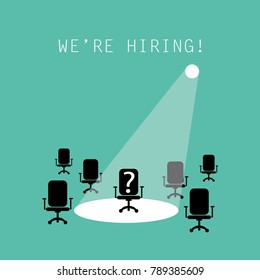 We are hiring / Recruitment employment concept