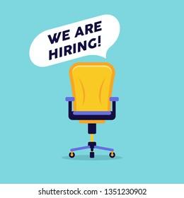We are hiring vacancy open recruitment. Job vacancy banner. Open recruitment illustration