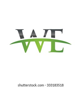 WE initial company green swoosh logo