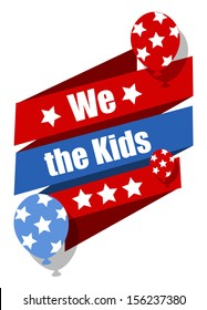 We the kids - Constitution Day Vector Illustration