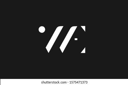 WE Letter Logo Design Template Vector