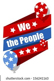 we the people - Constitution Day Vector Illustration