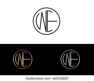 WE round circle shape initial letter logo